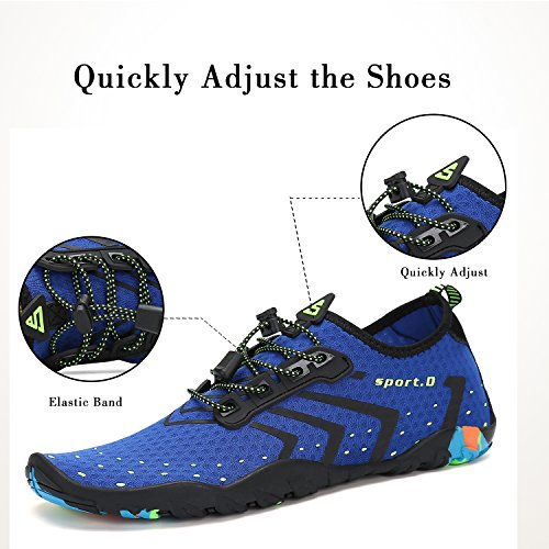 Playa Mujer Para Escarpines Zapatos Acuáticos Hombre azul Surf De Vela Cordones Natación Cycling Calzado Río Buceo Piscina Mar Aqua Agua Snorkel Deportes xxgHT
