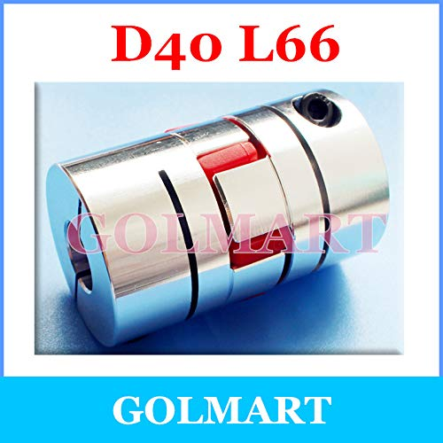 Ochoos CNC Stepper Motor Flexible Jaw Spider Shaft Coupling clamp Plum Coupler D40 L66 8 10 12 12.7 14 15 16 17 18 19 20 22 15.875mm Inner Diameter: 17x22