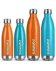 Trinkflasche Thermosflasche Wasserflasche Sportflasche Thermobecher aus Doppelwandigem Edelstahl, BPA frei Halten Kalt/Heiß, 500/750 ml für Kinder, Erwachsene, Camping, Reisen, Yoga, Auto und Büro