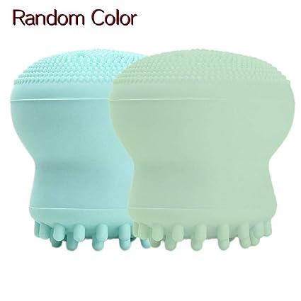 colinsa Cepillo de limpieza facial, portátil Mini nettes facial limpiador Belleza dispositivo de silicona Esponja