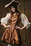 La Mascarade Caribbean Lady Pirate Buccaneer Ship Mate Dress Up & Role Play Halloween Costume