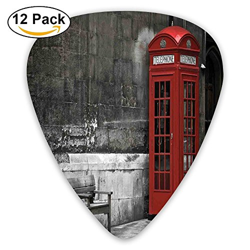 Newfood Ss Famous British Phone Boot In London Streets Important Icon Of Town Urban Life Photo Guitar Picks 12/Pack Set