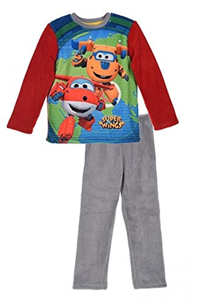 Super Wings Boys Coral Fleece Pjs Pyjamas Set