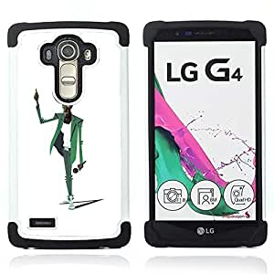For LG G4 H815 H810 F500L - MAN MUSIC MICROPHONE SINGER ART DRAWING Dual Layer caso de Shell HUELGA Impacto pata de cabra con im??genes gr??ficas Steam - Funny Shop -