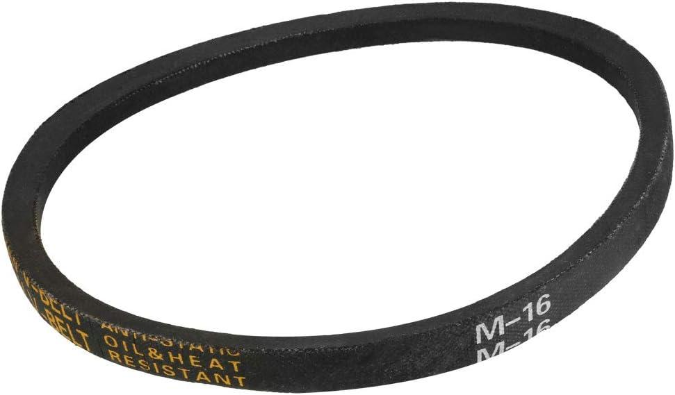 sourcing map M-43 V Belt Machine Transmission Rubber,Black Replacement Drive Belt