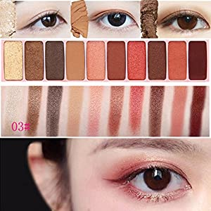 Eyeshadow Palette, Fullwei 10 Colors Foundation Makeup Shimmer Matte Sombras Eye Shadow Palette Cosmetics (C)