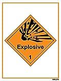 Self Adhesive Labels - Explosive (Set of 50 pcs)