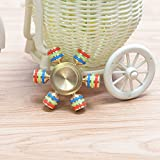 Hand Spinner Toys Brass EDC Spin Time Performance Bearing for Anti Stress And Anxiety Release Adult Random Color by Aroundstore