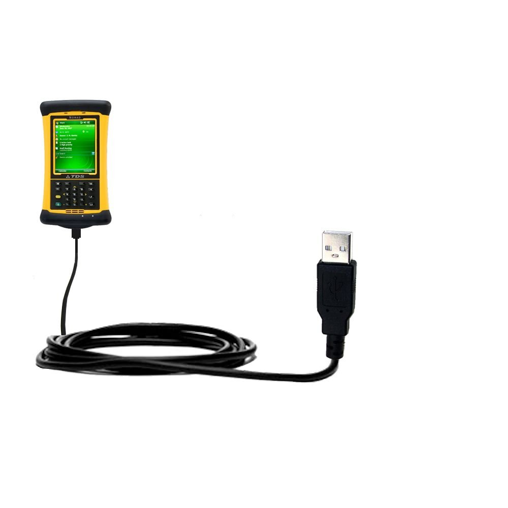 USB Data Hot Sync Straight Cable designed for the Trimble Nomade 900 GLC GLE GXE with Charge Function – Two functions in one unique Gomadic TipExchange enabled cable