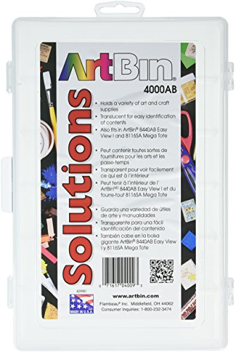 Box Solutions Single (ArtBin Solutions Box Single Compartment - 10-3/4 Inch by 7-13/40 Inch by 1-3/4 Inch  Art/Craft Storage Container, 4000AB)