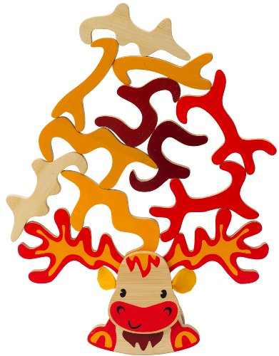 Hape Super Moose Toddler Bamboo Balancing Game by Hape