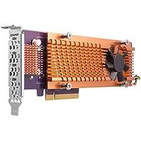 Qnap QM2-4P-342 Quad M.2 PCIe SSD Expansion Card, Supports up to Four M.2 2280 Form Factor M.2 PCIe (Gen3 x2) SSDs, PCIe Gen3 x4 Host Interface, Low-Profile Bracket pre-Loaded