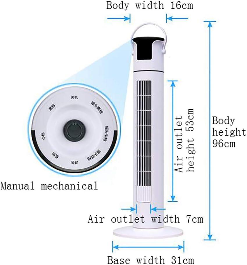 TU-Tower Fans NAUY@ Ventilatore a Torre, 45W 50Hz 3 velocità 90 Gradi grandangolare Senza Ventola Apparecchi di Raffreddamento (Colore : Mechanical Model(Large)) Mechanical(small)