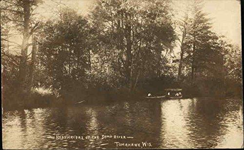 Headwaters Of The Somo River Tomahawk  Wisconsin Original Vintage Postcard