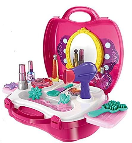 Life-Tandy Makeup Set For Children Girls Pretend Play Make up Kit Gift Great For Little Girls Kids Include 21 Pcs Beauty Salon Toys Make up Box Christmas - Christmas Presents