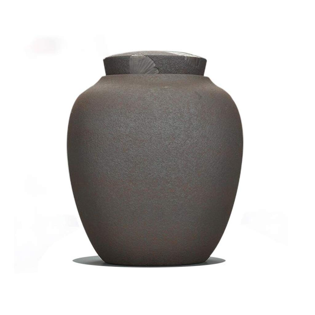 B SN Pet Cremation Urn Cat Dog Ashes, Seal Moisture Proof Handmade Ceramics Cremation Funeral Coffin (color   B)