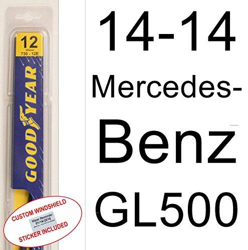 2014 Mercedes-Benz GL500 Rear Wiper Blade - Goodyear Wiper Blades Assurance - With Custom Windshield Reminder Sticker