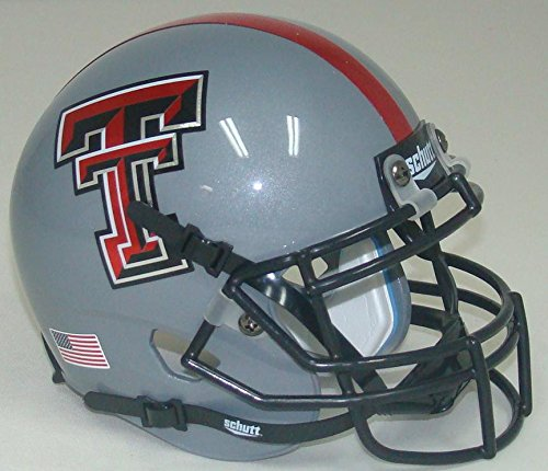 Texas Tech Mini Helmet (NCAA Texas Tech Red Raiders 2013 Gray Mini Helmet, One Size, White)