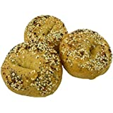Low Carb Everything Bagels (3 Bagels) - Fresh Baked - LC Foods - All Natural - No Sugar - High Protein - Diabetic Friendly - Low Carb Bagels