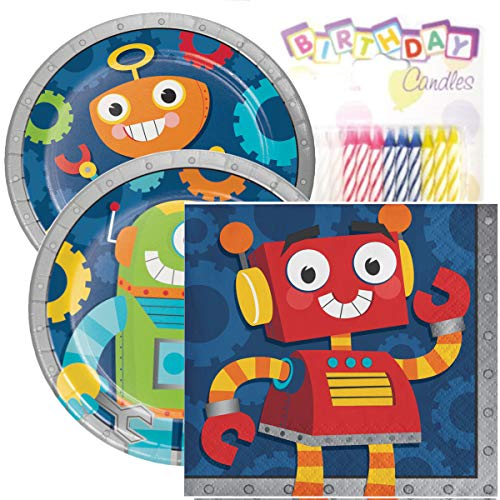 Party Robots Birthday Party Pack - Includes 7