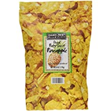 Trader Joe's Dried Baby Sweet Pineapple, unsweetened & unsulfured, 6 ounces (Pack of 2)