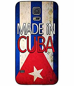Made in Cuba TPU RUBBER SILICONE Phone Case Back Cover Samsung Galaxy S5 I9600