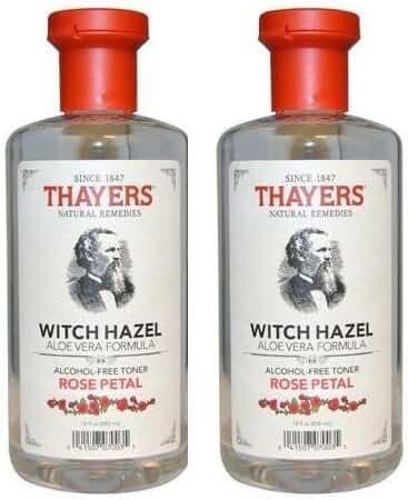 Thayer - Witch Hazel Toner-rose Petal Alc.fr 12 oz (pack of 2) (Total 24 Oz)