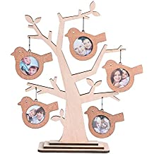Giftgarden Family Tree Hanging Photo picture Frames 2x2 for Christmas Ornament