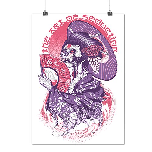 [Art Of Seduction Skull Geisha Matte/Glossy Poster A4 (9x12 inches)   Wellcoda] (Hocus Pocus Halloween Costumes)