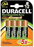 Duracell Staycharged Rechargeable 2000 mAh AA Batteries - 4-Pack