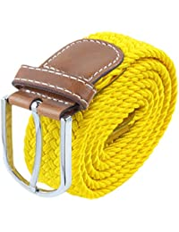 SUNYIK Men's Casual Braided Elastic Stretch Belt