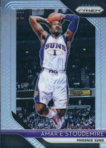 2018-19 Prizm Silver Prizms Basketball #295 Amar'e Stoudemire Phoenix Suns Official NBA Trading Card From Panini - Amare Stoudemire Nba