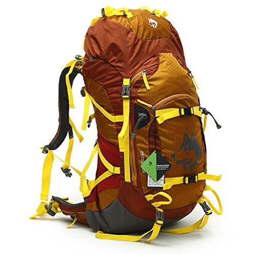 Outdoor-Freizeit-Schultertasche unisex Umhängetasche wasserdicht Bergsteigen Taschen 55L Sportreisen Umhängetasche Gold khaki wIu9G