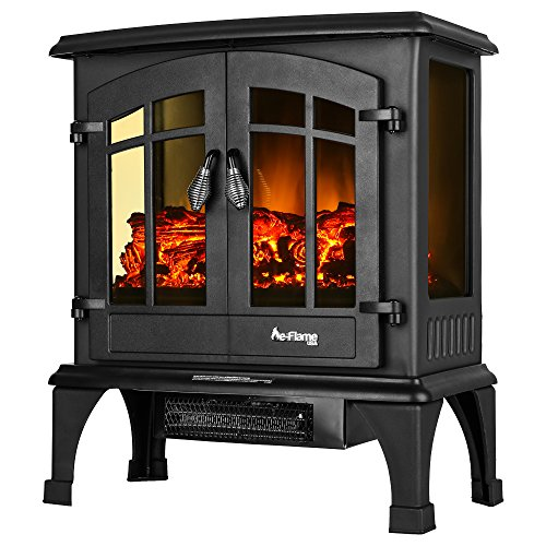 Jasper Free Standing Electric Fireplace Stove   25 Inch Portable Electric  Vintage Fireplace With Realistic Fire And Logs. Adjustable 1500W 400 Square  Feet ...