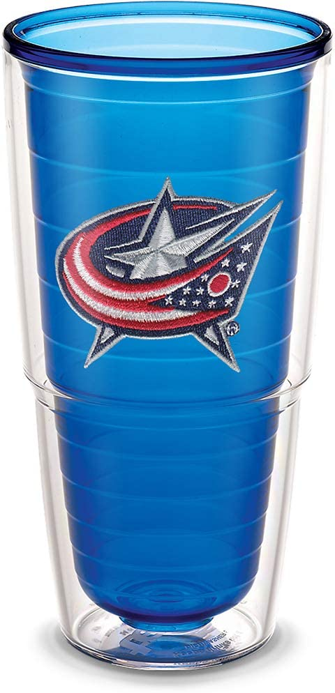 16oz Mug Tervis 1245967 NHL Columbus Blue Jackets Primary Logo Insulated Tumbler with Emblem and Navy Lid Red
