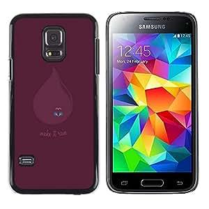 Caucho caso de Shell duro de la cubierta de accesorios de protección BY RAYDREAMMM - Samsung Galaxy S5 Mini, SM-G800 - Haz que llueva