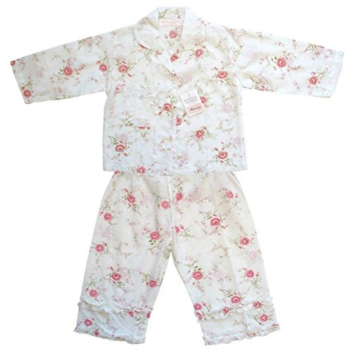 Powell Craft Rose Print Floral Flowery Cotton Girls Pyjamas B006VA7808