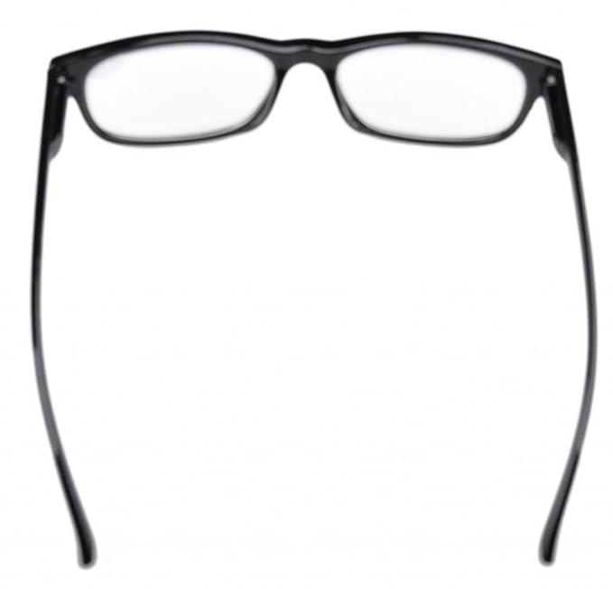 Eyekepper Gafas de lectura retro con bisagas de resorte negro +1.50
