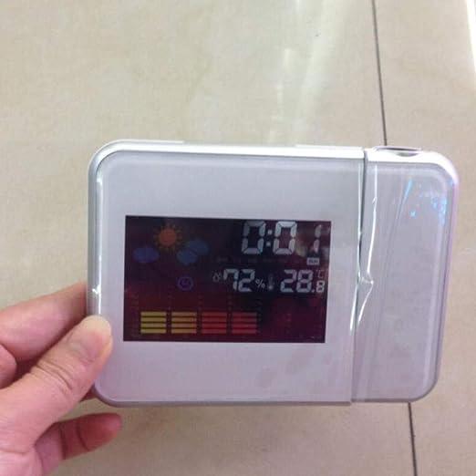 Despertador Radio Con Pilas Reloj Despertador De Proyección Con ...