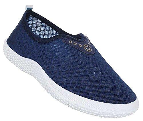 Damen Schuhe Slipper Halbschuhe Freizeitschuhe Schlupfschuhe Sneaker Blau