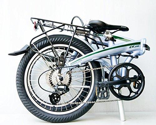 Oyama CX E8D metálico plata eléctrica 36 V bicicleta plegable bicicleta: Amazon.es: Deportes y aire libre