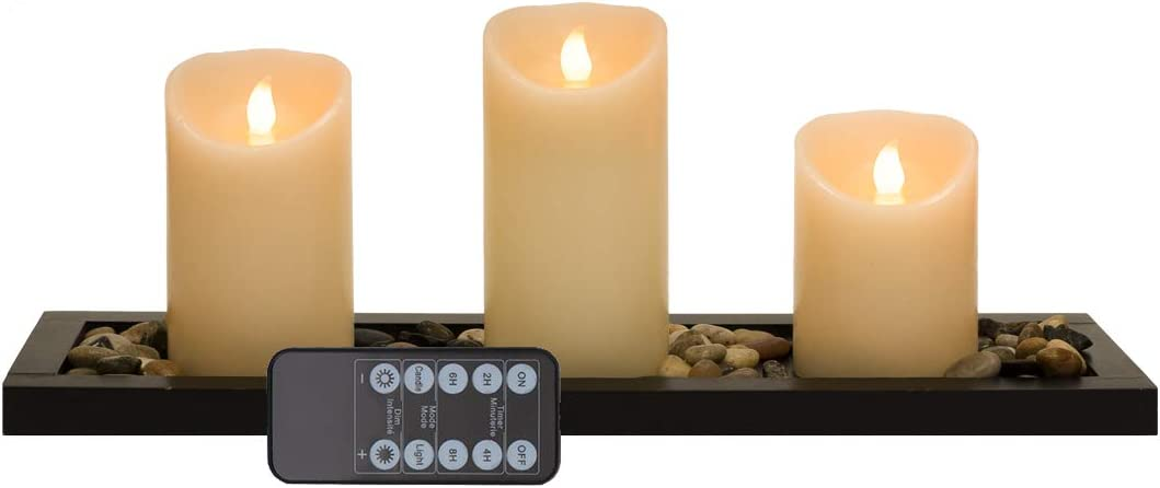 Flameless Candles Battery Operated Candles ,Set of 3 (D:3