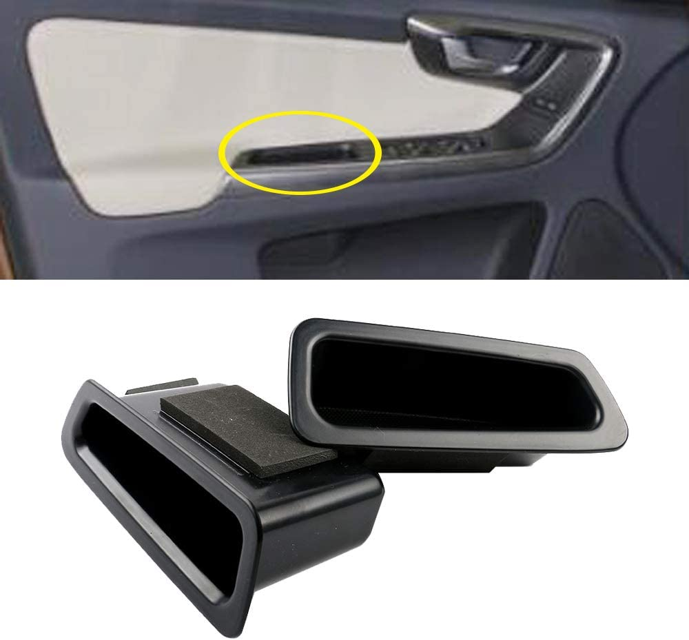 SXYSNX Front Door Container Armrest Storage Box Secondary Box 1 Pair Fit for Volvo XC60 2009-2016