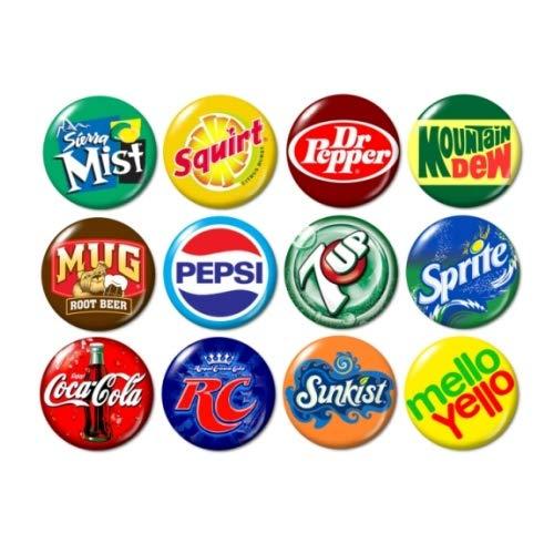 (Soda Pop Logo Buttons Pins (set #1))