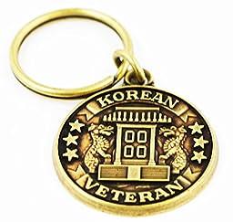 Korean War Veteran Keychain Military Commemorative Collectibles, Patriotic Gifts