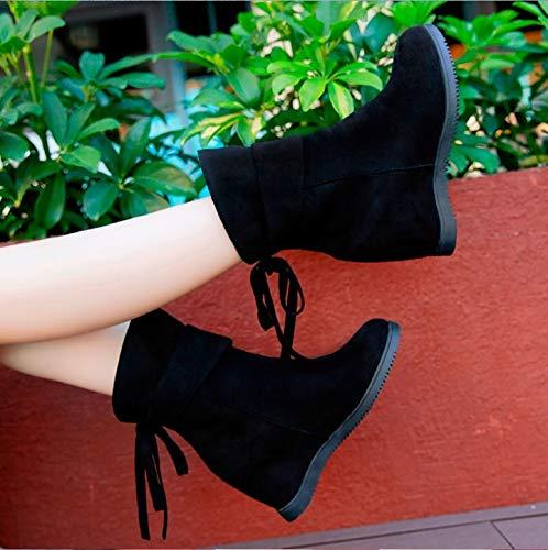 Fmwlst Suela Invierno E Otoño Botas Gruesa Mujer Zapatos Xl De Botas AWRnrFqA