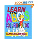 Learn the ABCs Coloring Book (Lucky Cat Coloring Books) (Volume 1)