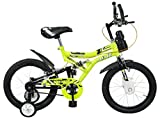 Mad Maxx 16T Shocker Steel Single Speed Kids' Road Cycle, 16 Inches (Green) For 5 to 7 years child