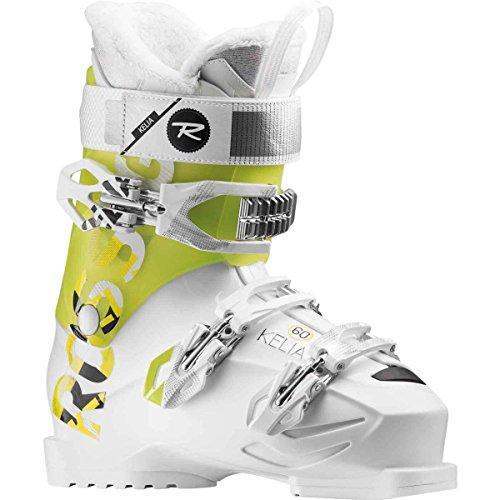 Rossignol Women's Kelia 60 Ski Boots (White/Citrus, 23.5)