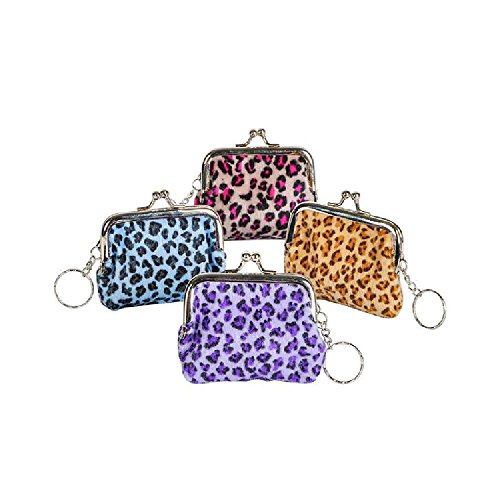 3'' Safari-Print Coin Purse Keychain by Bargain World